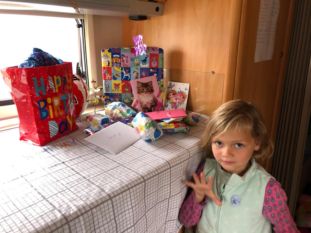 Luisa turns 5!